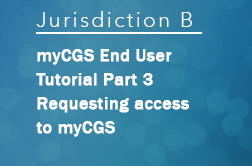 Requesting access to myCGS